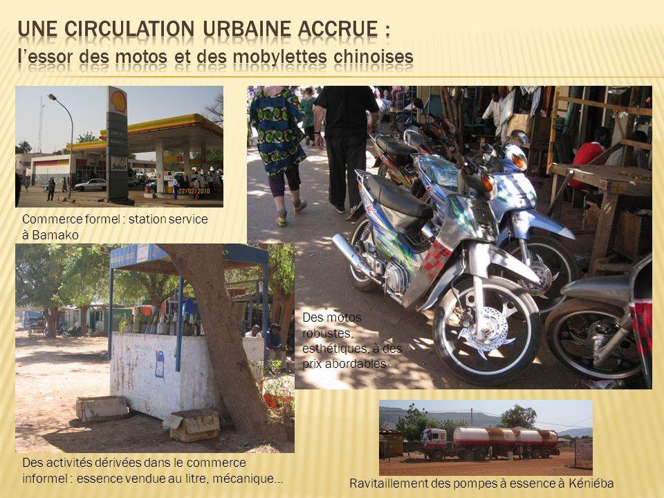 UNE circulation URBAINE ACCRUE : l'essor des motos et des mobylettes chinoises