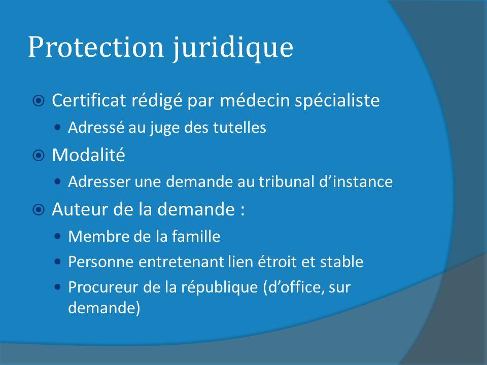 Protection juridique Certificat rédigé par médecin spécialiste