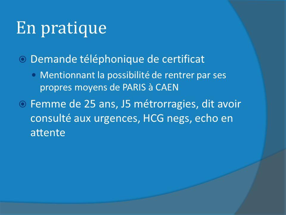 En pratique Demande téléphonique de certificat