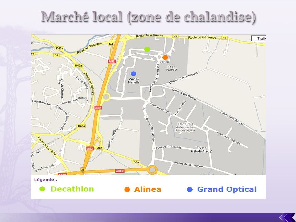 Marché local (zone de chalandise)