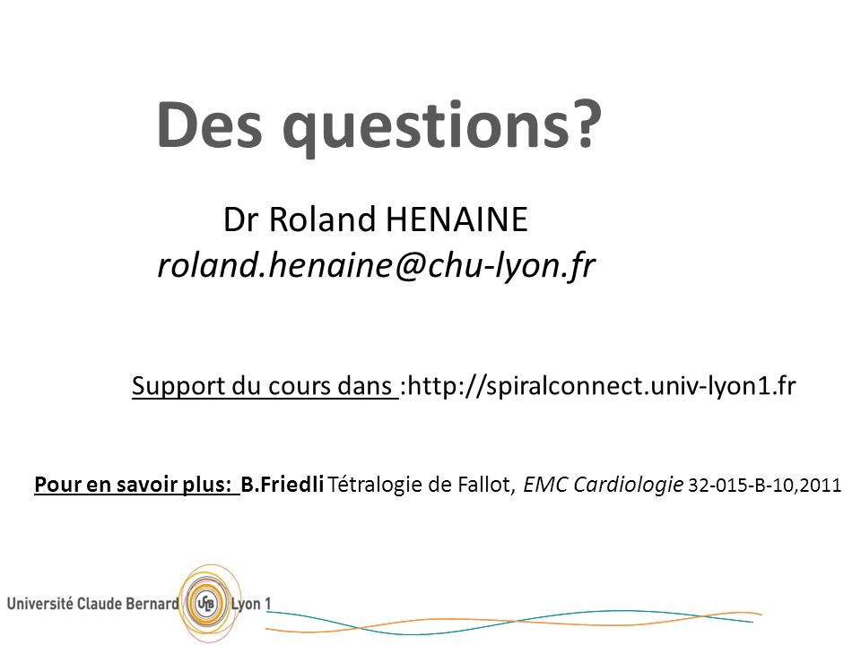 Support du cours dans :http://spiralconnect.univ-lyon1.fr