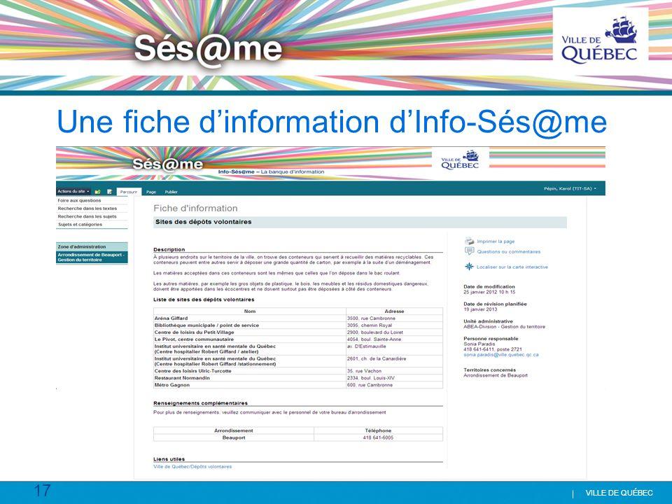 Une fiche d'information d'Info-Sés@me