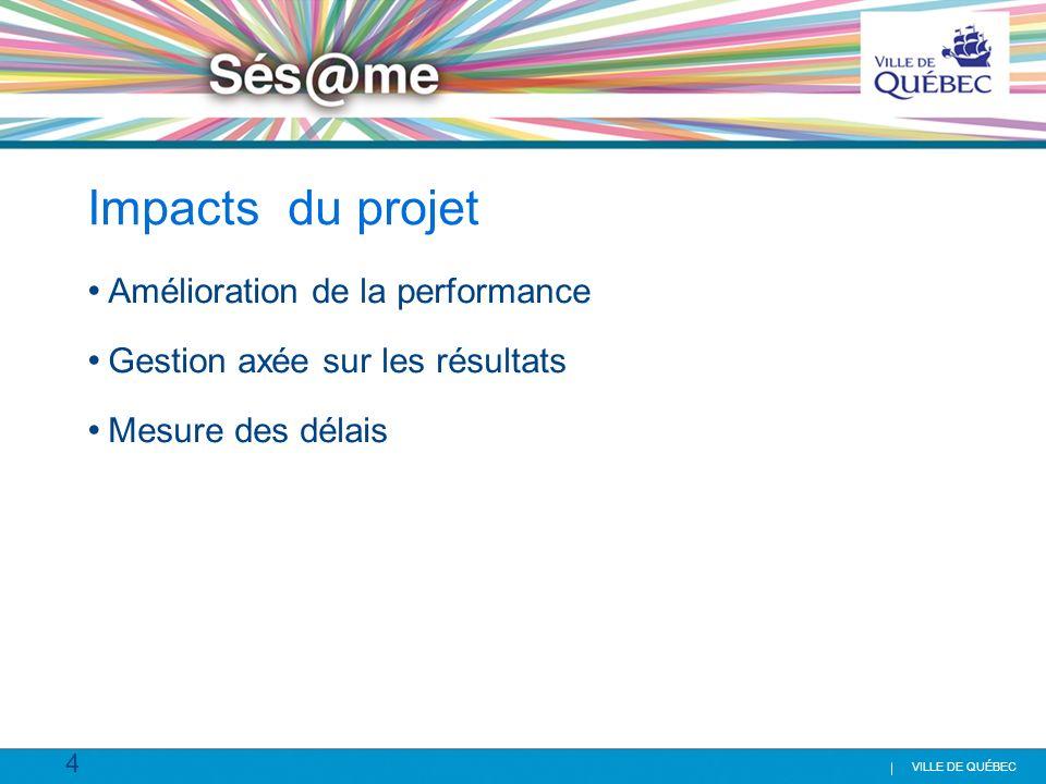 Impacts du projet Amélioration de la performance