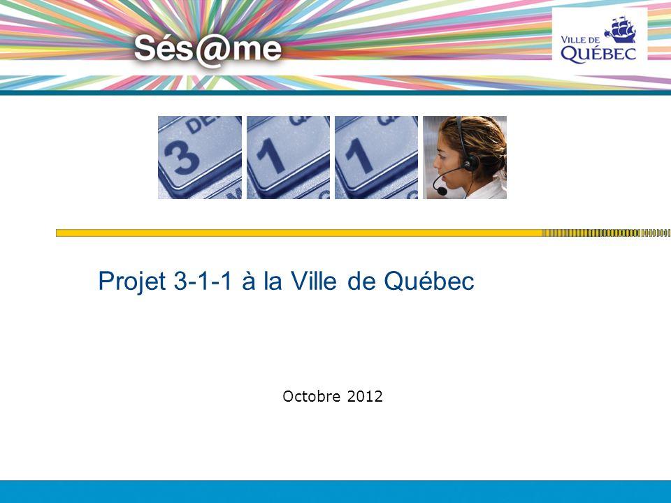 Projet 3-1-1 à la Ville de Québec