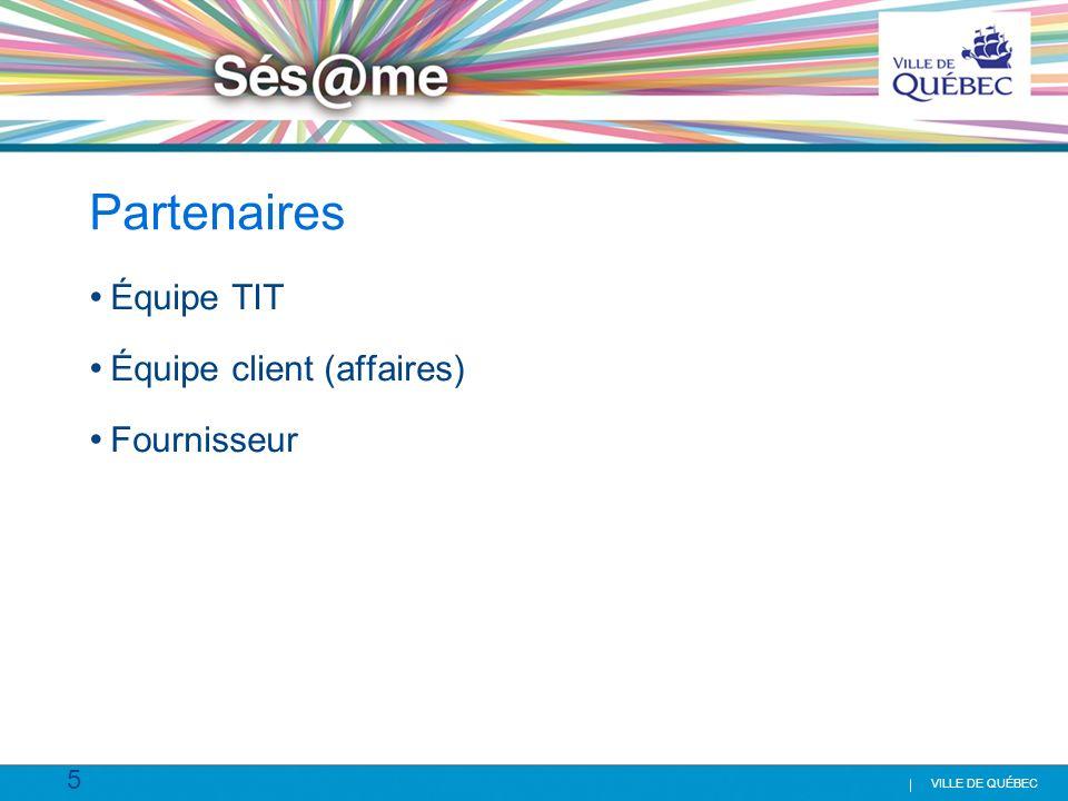 Partenaires Équipe TIT Équipe client (affaires) Fournisseur