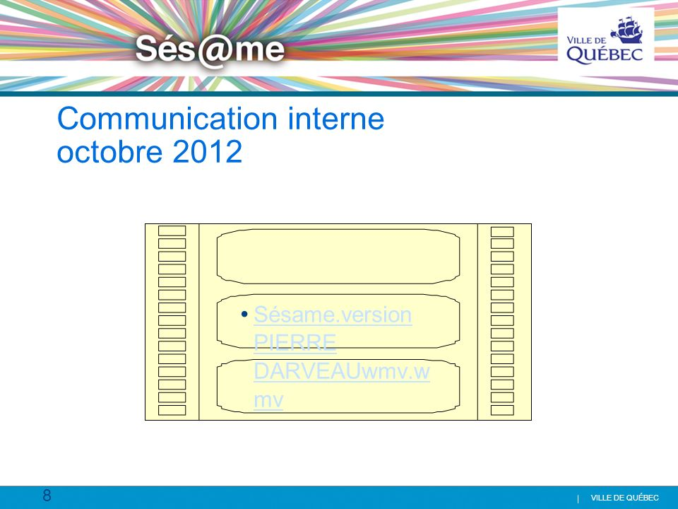 Communication interne octobre 2012
