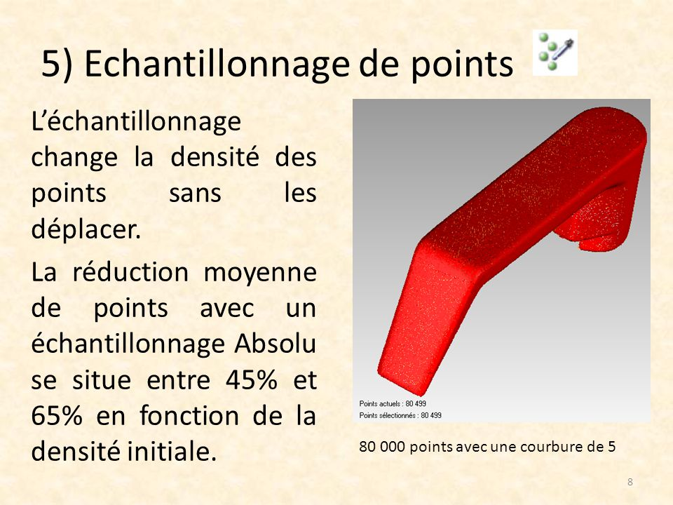 5) Echantillonnage de points