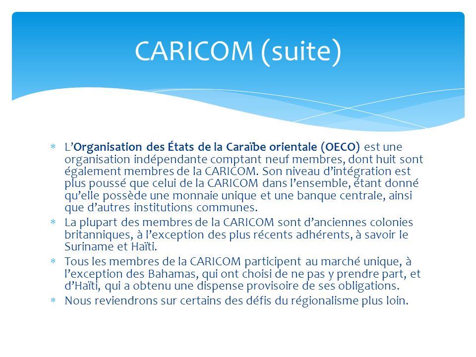 CARICOM (suite)