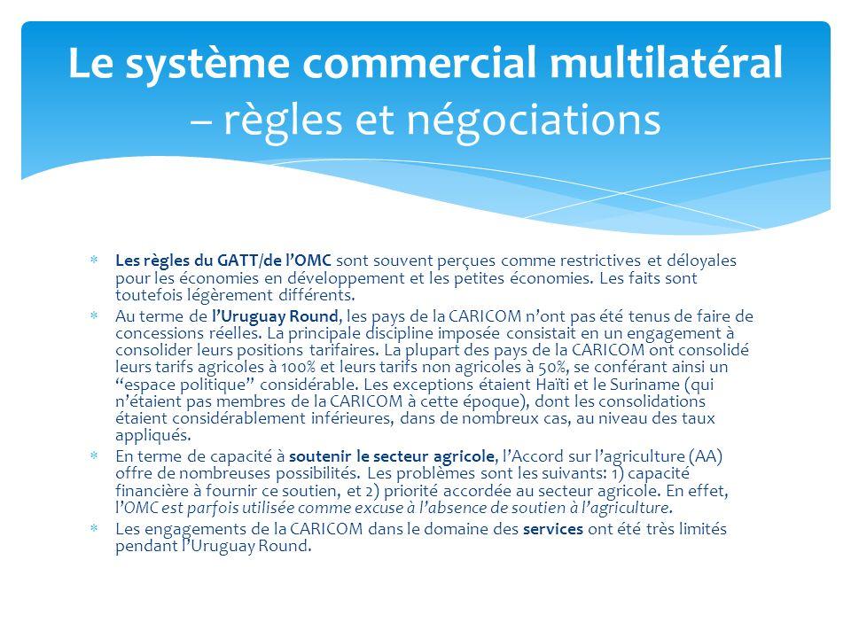 Le système commercial multilatéral – règles et négociations