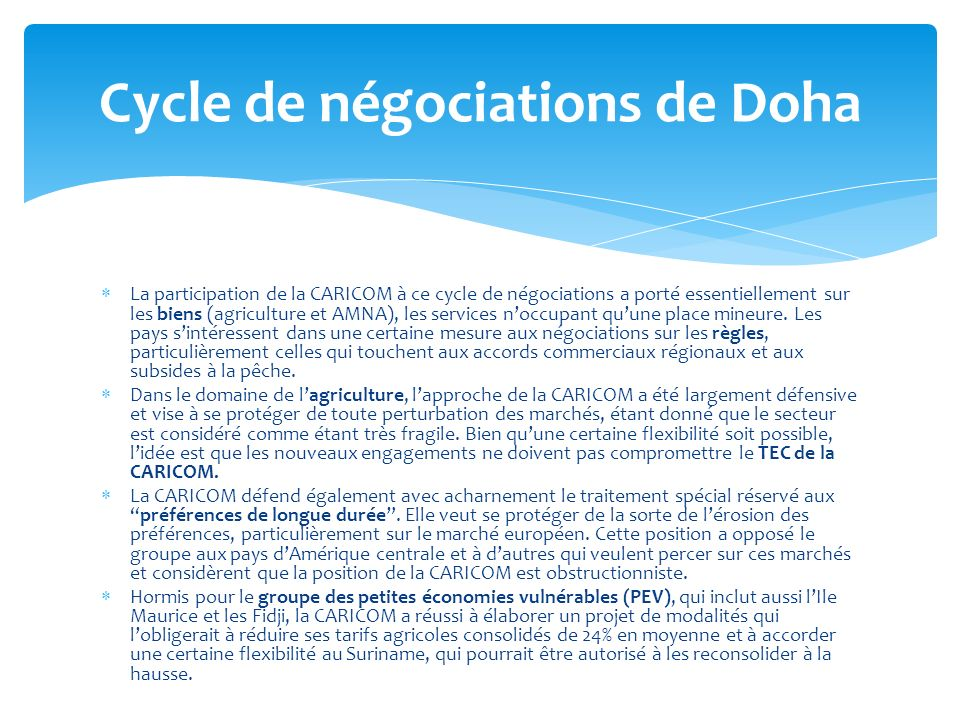 Cycle de négociations de Doha
