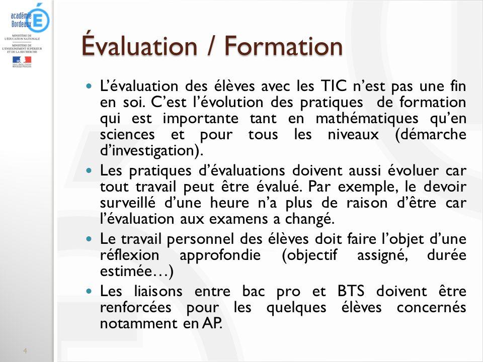 Évaluation / Formation