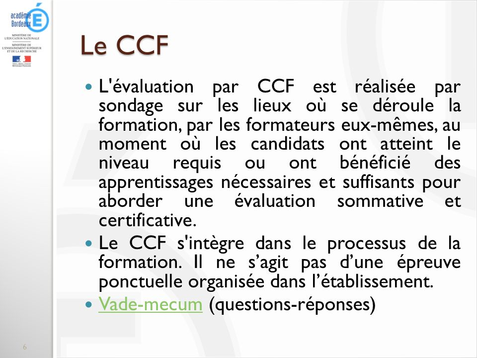 Le CCF
