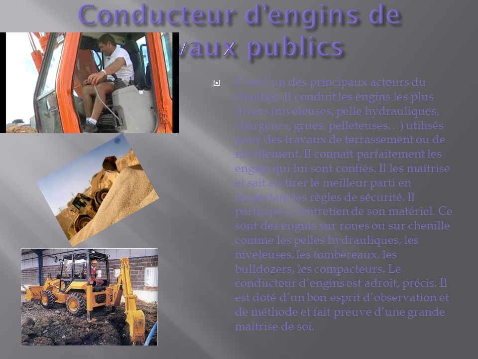 Conducteur d'engins de travaux publics