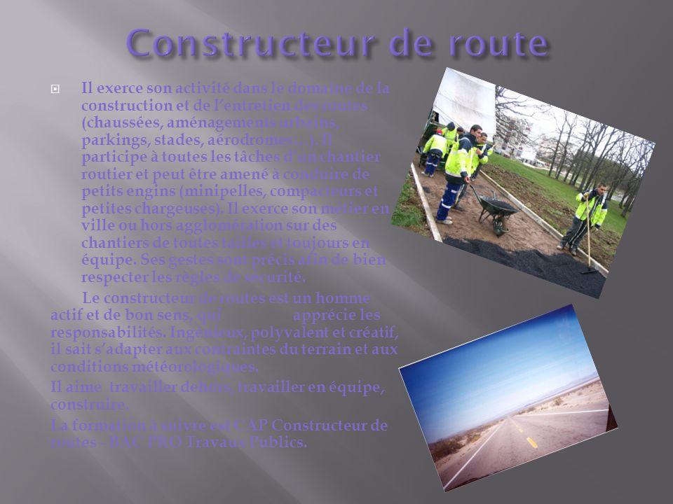 Constructeur de route