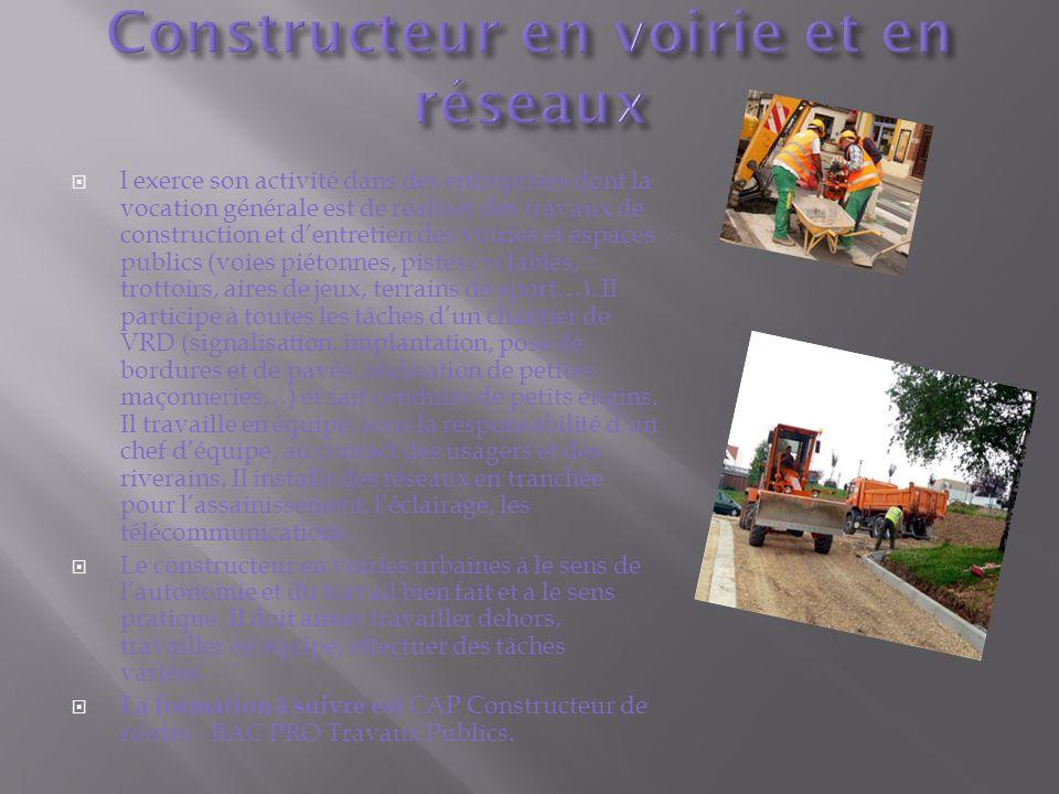 Constructeur en voirie et en réseaux