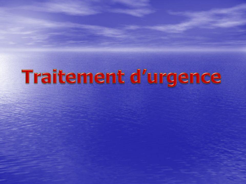 Traitement d'urgence