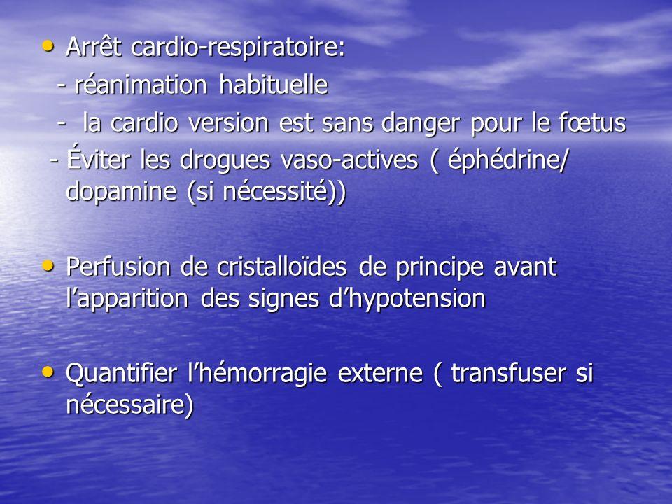 Arrêt cardio-respiratoire: