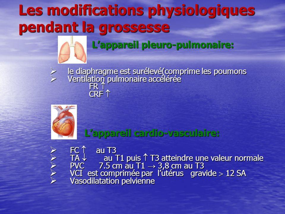 Les modifications physiologiques pendant la grossesse