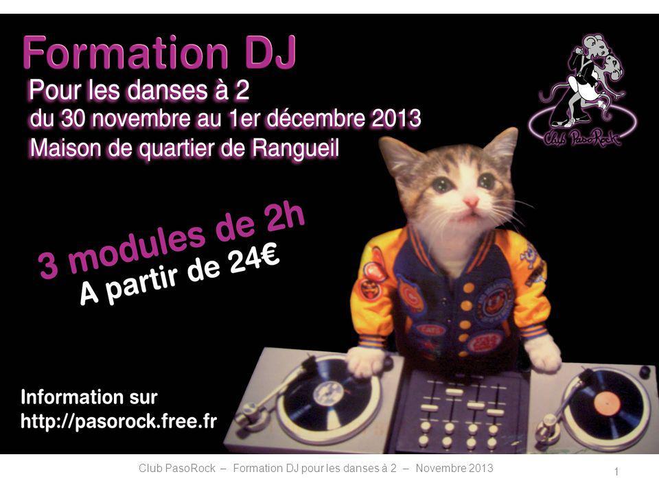 FORMATION DJ POUR LES DANSES A 2