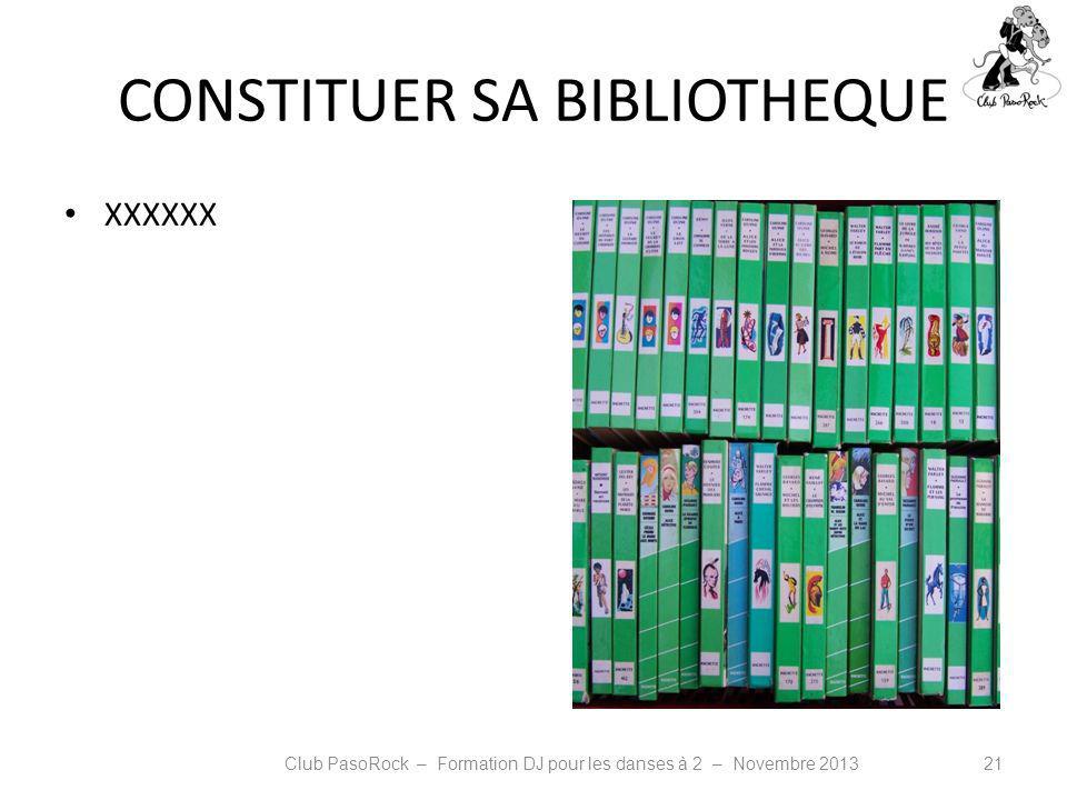CONSTITUER SA BIBLIOTHEQUE