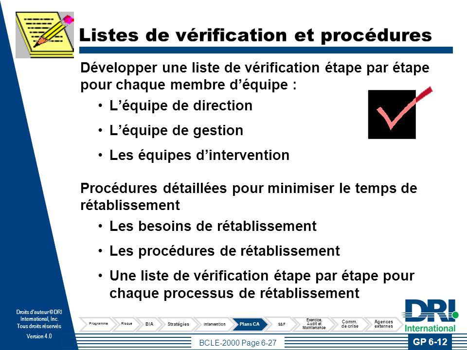 Référence rapide La section de référence rapide doit inclure l'information de base suivante : Où s'assembler.