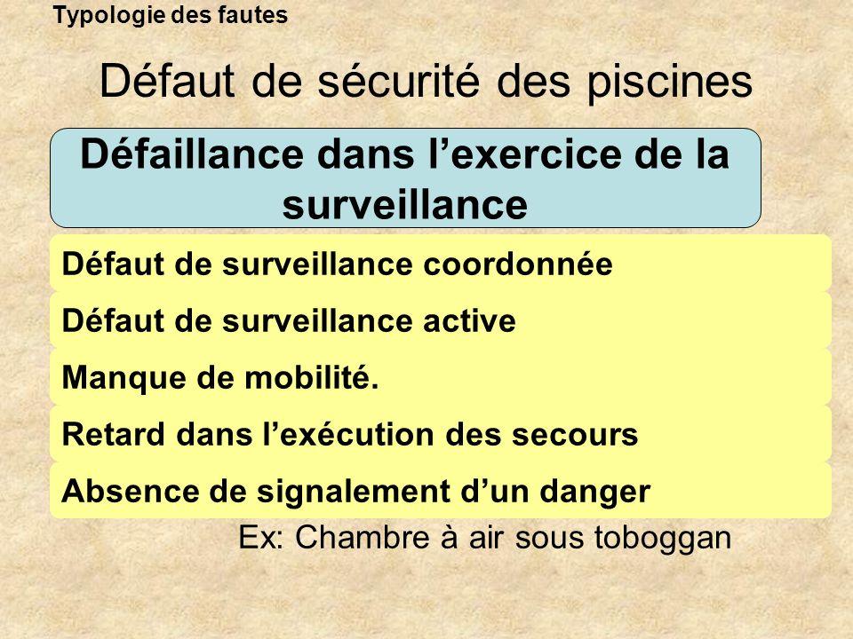 Défaillance dans l'exercice de la surveillance