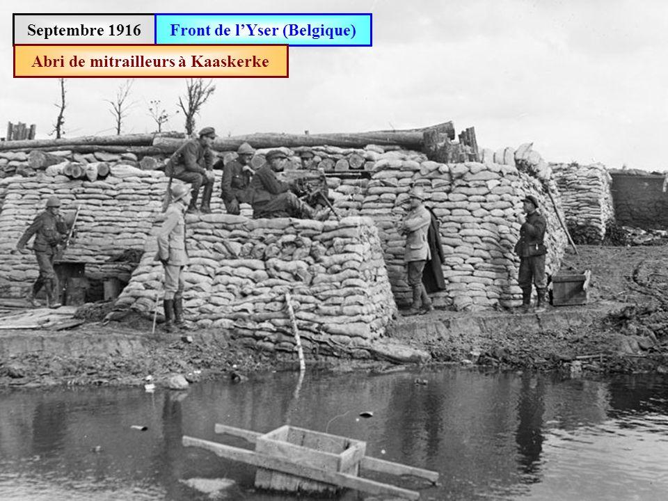 Front de l'Yser (Belgique) Abri de mitrailleurs à Kaaskerke