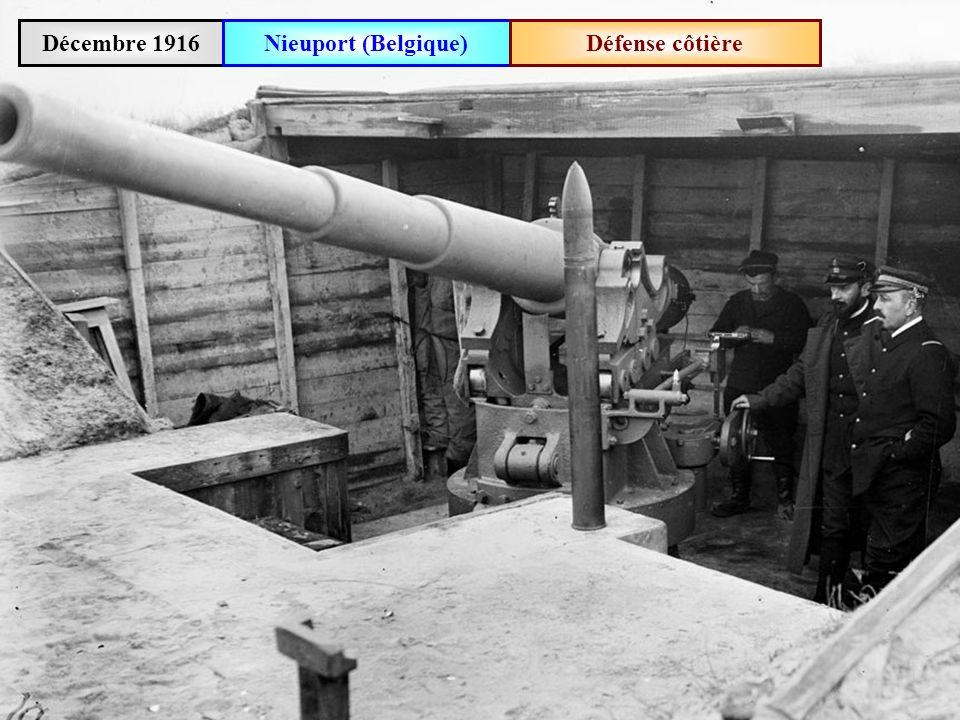Décembre 1916 Nieuport (Belgique) Défense côtière