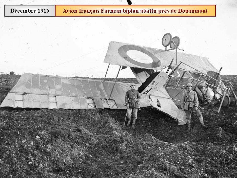 Avion français Farman biplan abattu près de Douaumont