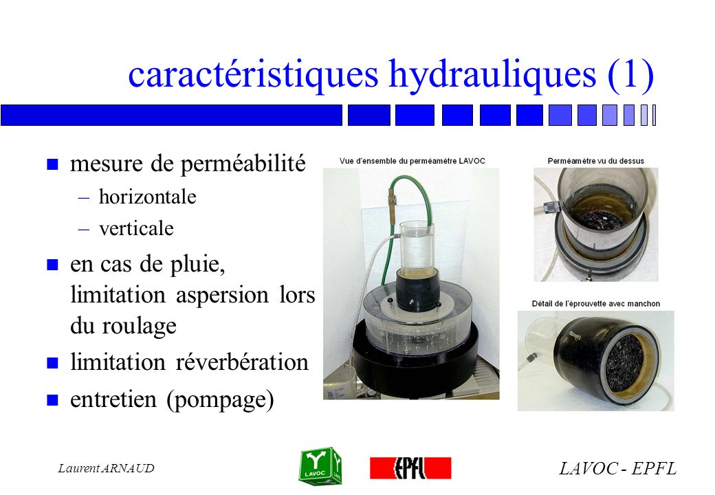 caractéristiques hydrauliques (1)