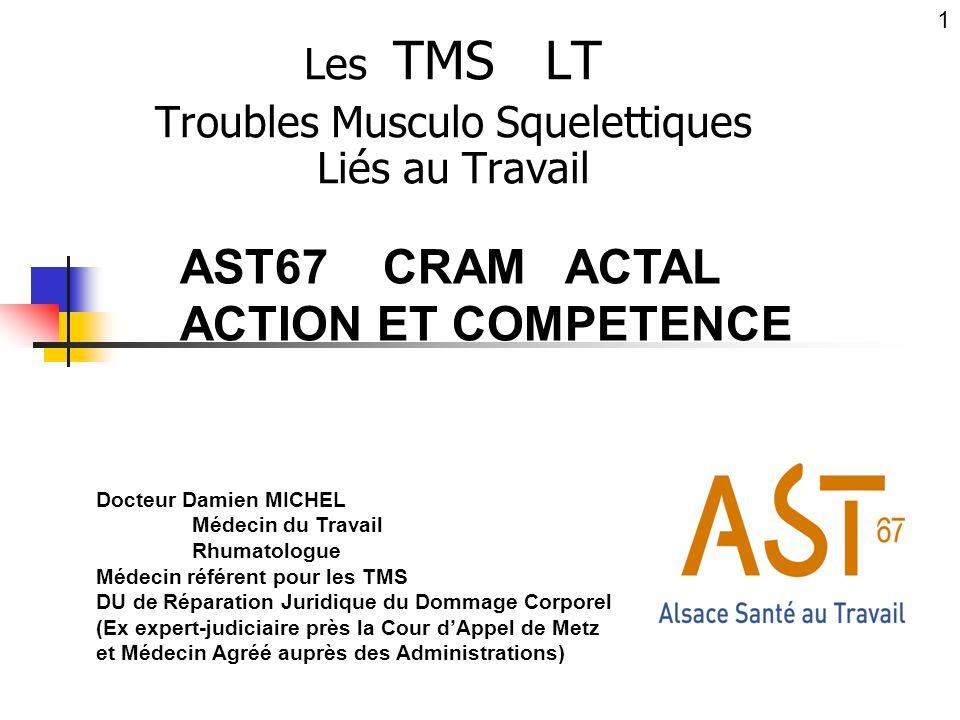 Les TMS LT Troubles Musculo Squelettiques Liés au Travail