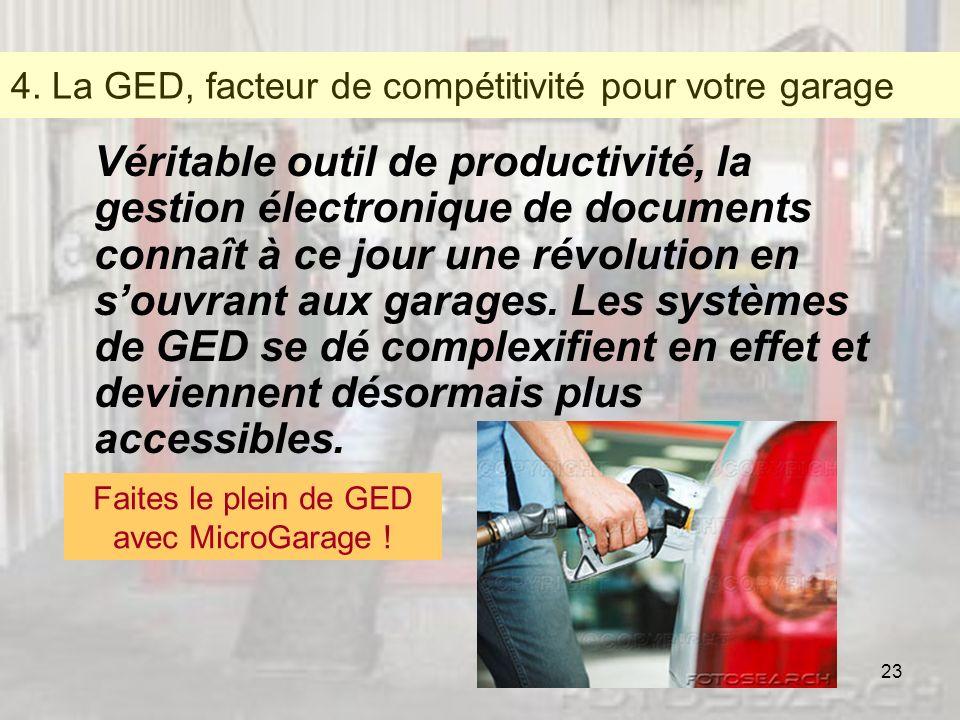 4. La GED, facteur de compétitivité pour votre garage