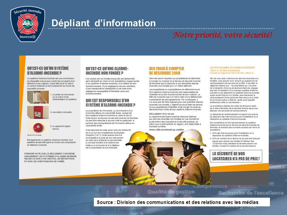 Dépliant d'information