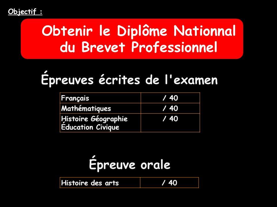 Obtenir le Diplôme Nationnal du Brevet Professionnel