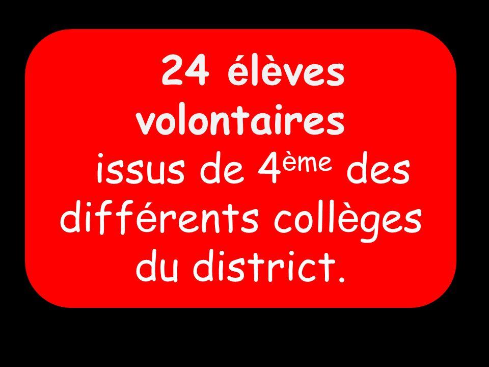 issus de 4ème des différents collèges du district.