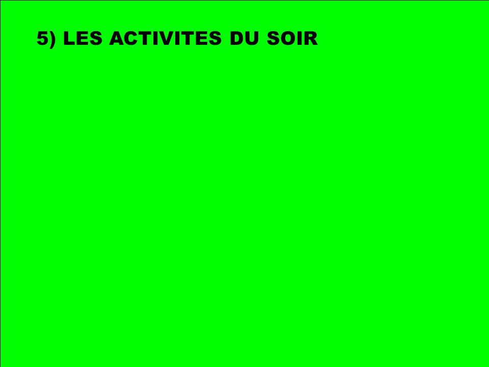 5) LES ACTIVITES DU SOIR