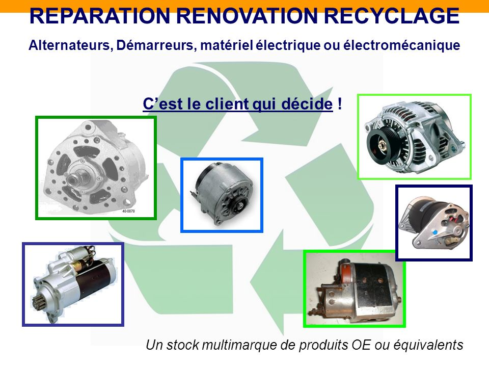 REPARATION RENOVATION RECYCLAGE