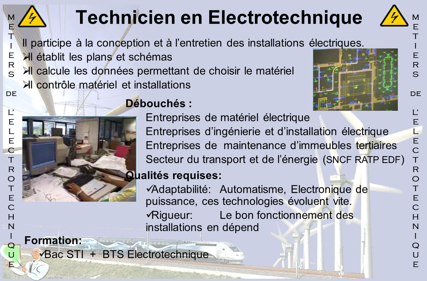 Technicien en Electrotechnique