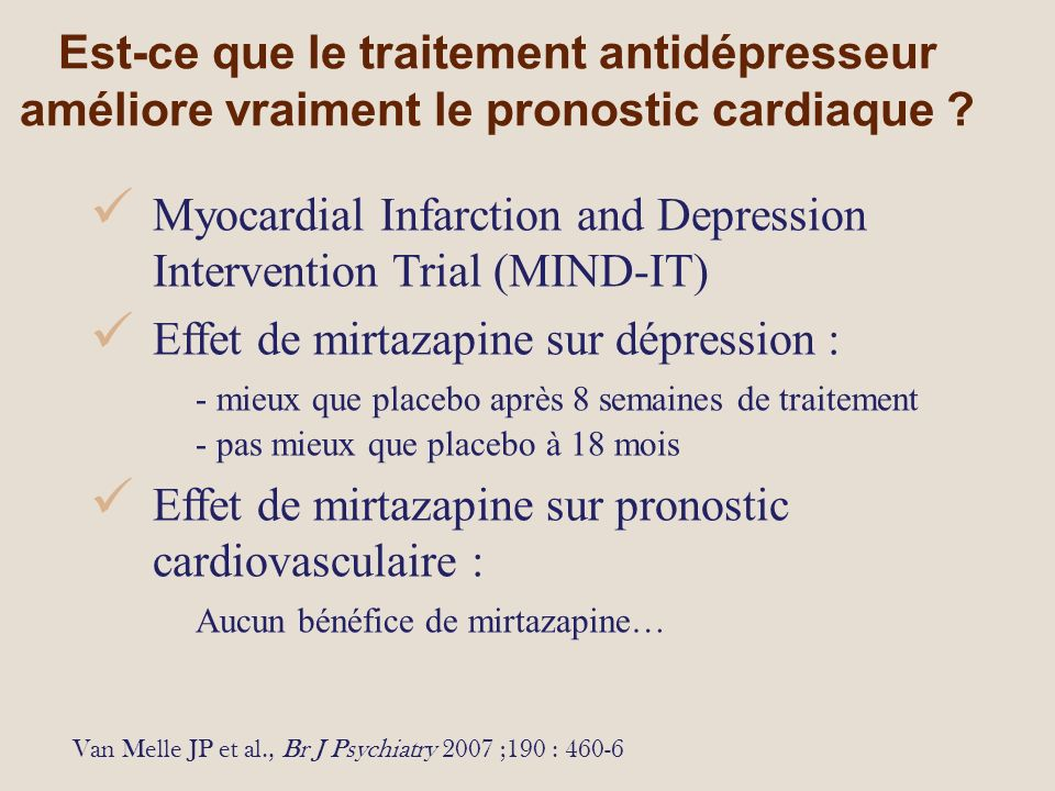 Myocardial Infarction and Depression Intervention Trial (MIND-IT)