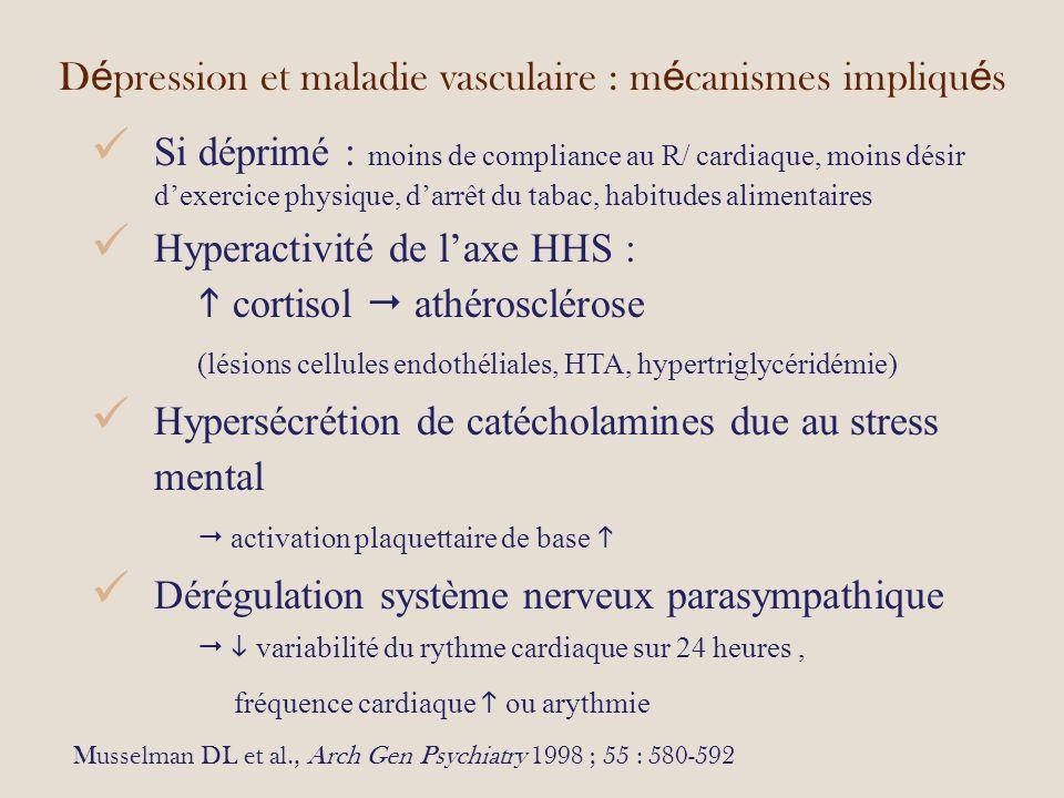 Dépression et maladie vasculaire : mécanismes impliqués