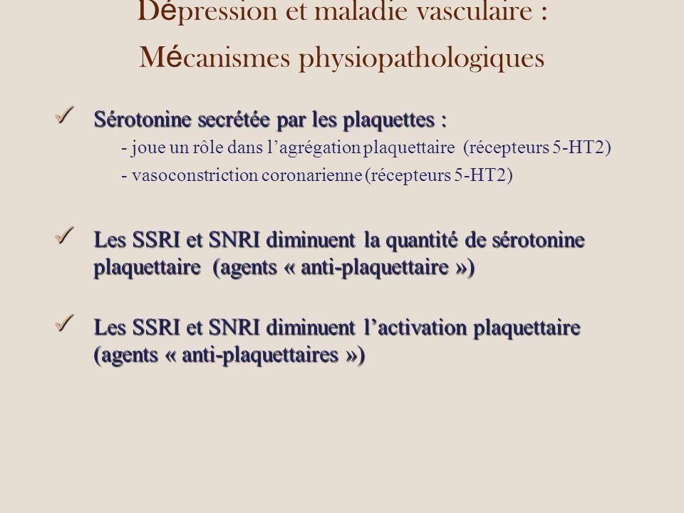 Dépression et maladie vasculaire : Mécanismes physiopathologiques