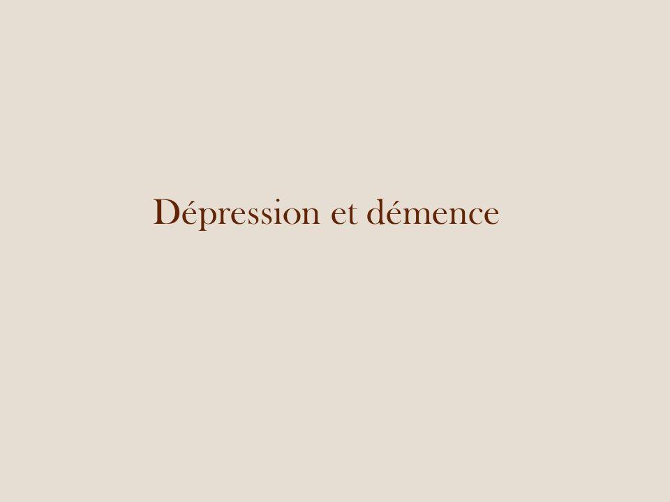 Dépression et démence