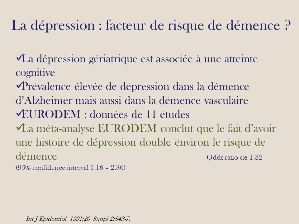 La dépression : facteur de risque de démence
