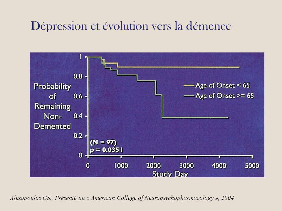 Dépression et évolution vers la démence