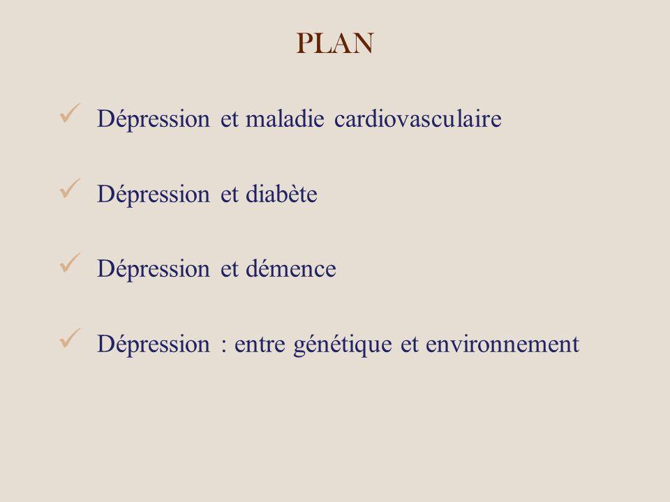 PLAN Dépression et maladie cardiovasculaire Dépression et diabète