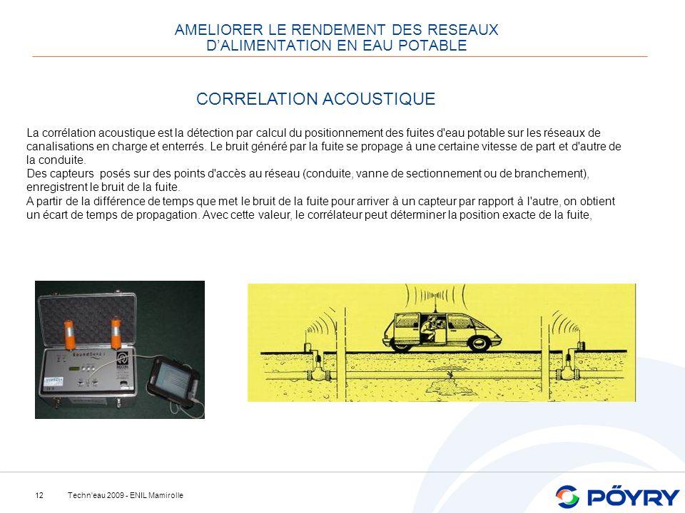 AMELIORER LE RENDEMENT DES RESEAUX D'ALIMENTATION EN EAU POTABLE