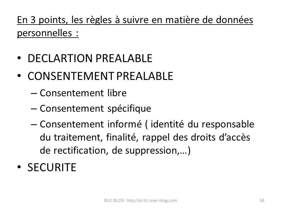 En 3 points, les règles à suivre en matière de données personnelles :