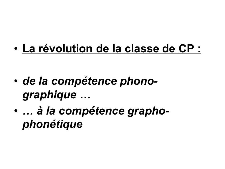 La révolution de la classe de CP :