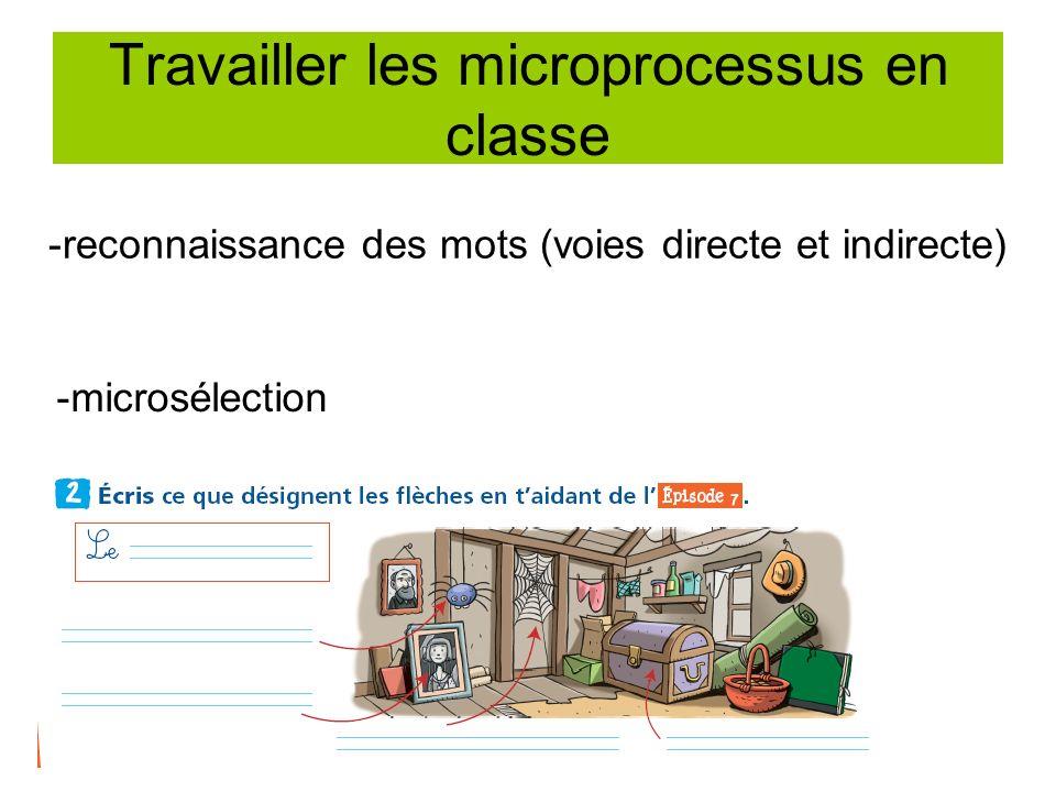 Travailler les microprocessus en classe