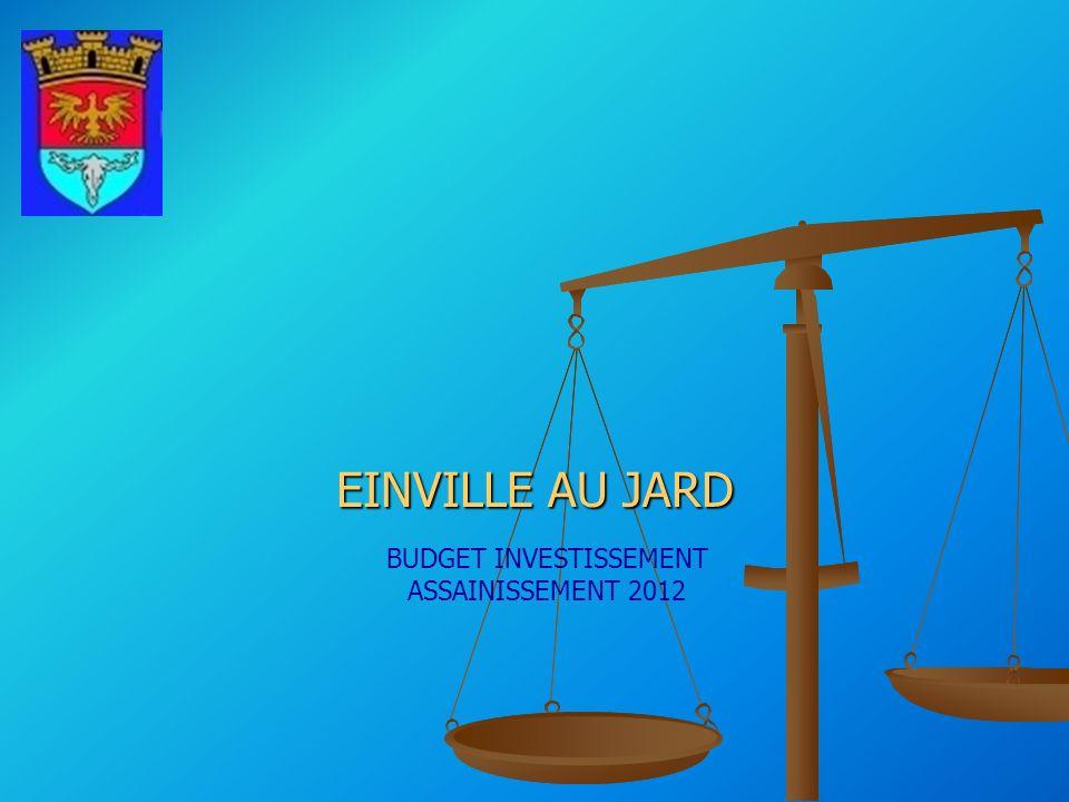 BUDGET INVESTISSEMENT ASSAINISSEMENT 2012